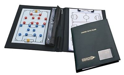 Coaches Folder - Diamond Coach Tactics Book - Magnetic Board And Paper Football