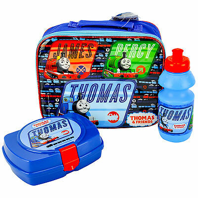 Thomas The Tank Engine 3 Piece Luxury Lunch Box Set 100% Official Brand New