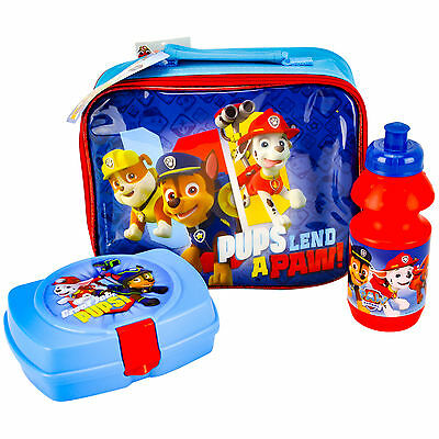 Blue Paw Patrol 3 Piece Luxury Lunch Box Set 100% Official Brand New