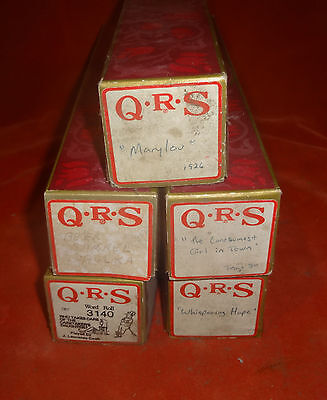 (5) Player Piano Rolls- QRS - Good Condition 05