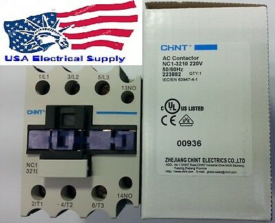 New Schneider LC1D32 Replacement Chint Contactor NC1-3210 Coil 220V