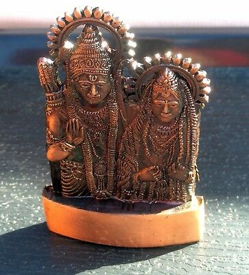 Lord Ram Mini Statue Rama Sita Ramayana Antique Metal Hindu God Idol Prayer Puja