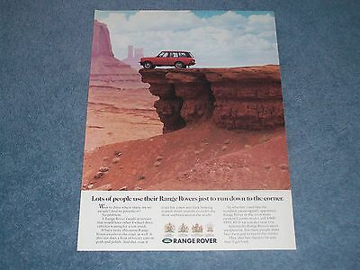 "1990 Range Rover Vintage 4x4 Ad ""Some People use their Range Rover...."""