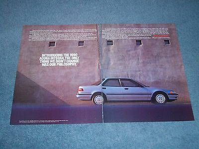 1990 Acura Integra Vintage 2pg Ad Only Thing We Didn't Change Was Our Philosophy