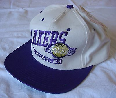 Vintage & rare 1990s NBA Los Angeles Lakers Basketball cap hat, One Size, BNWT