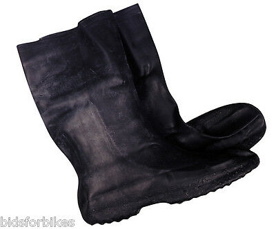 Bikeit Waterproof Motorcycle Rubber Overboots Over Boots Sizes Xs-2Xl