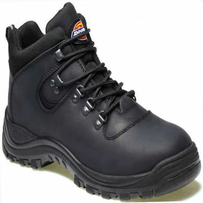 Dickies Mens Lightweight Leather Fury Safety Work Hiker Boots Steel Toe Cap Size