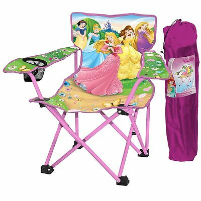Disney Princess Kids Folding Camp Chair With Carry Bag. Ages 3 - 8 Years *new*