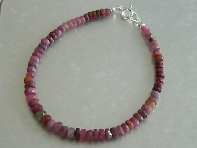 34ct Ruby Bracelet 925 Sterling Silver Clasp