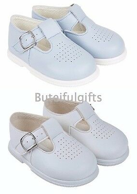Bay Pods Spanish Style Infant Sky Blue White Boys Walking Shoes UK Infant 2-6