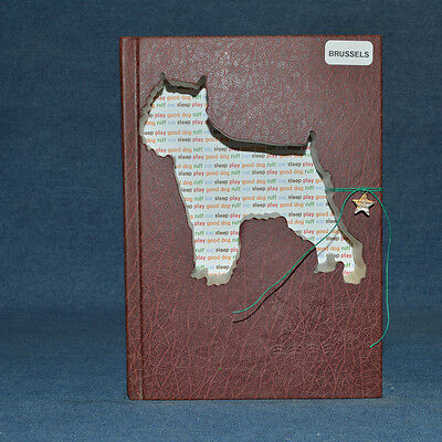 Brussels Griffon Upcycled Book - 003