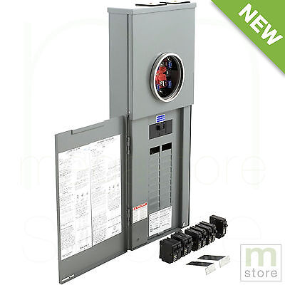 Square D 200 Amp Load Center Main Breaker Panel Meter 40-Circuit 20-Space