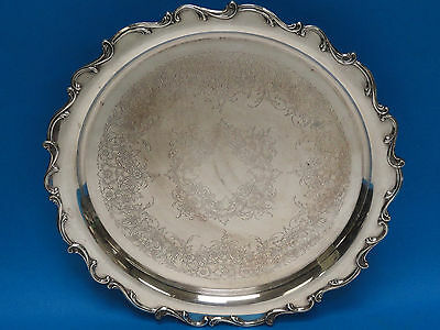 """VINTAGE WILCOX INTERNATIONAL SILVER Co JOANNE 7272 FOOTED TRAY 14.5"""""""