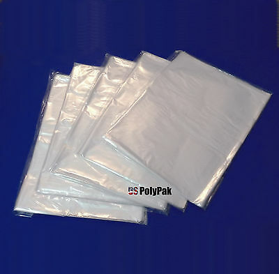 """1000 7x9"""" Clear Lay Flat Poly Bags LDPE Open Top Plastic Packaging Baggies Case"""