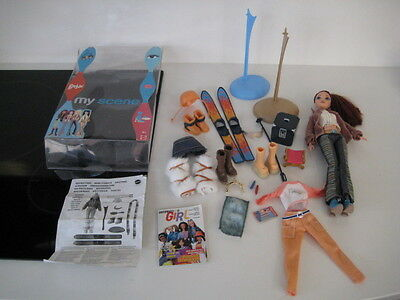 Barbie My Scene Doll Clothes Skis Boots Helmet Outfit Trousers Stands Booklets