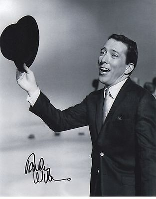 Signed Original B&W Photo of Andy Williams of 1960's Music