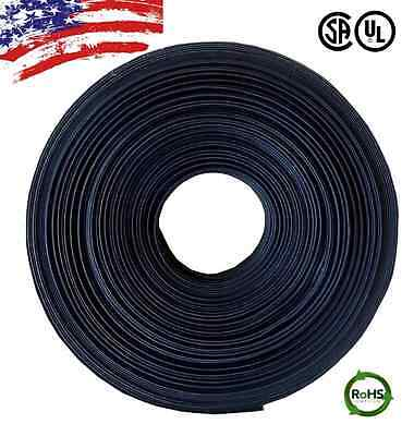 "20 FT. 20' Feet BLACK 1"" 25mm Polyolefin 2:1 Heat Shrink Tubing Tube Cable US UL"