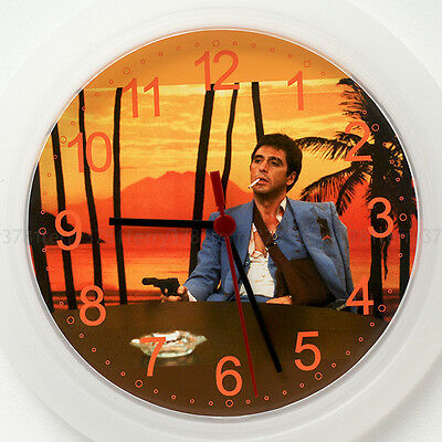 SCARFACE AL PACINO Wall Clock New 24cm game movie dvd playstation xbox wii Gift
