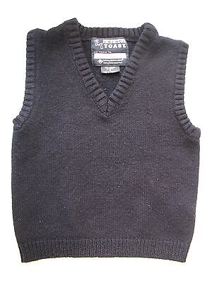 French Toast Navy Blue V-Neck Sweater Vest School Uniform Size 4