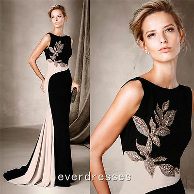 Mermaid Long Mother of Bride Beading Gown Evening Dress Party Gowns Custom Size