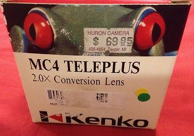 Kenko 2X MC4 TelePlus Tele Plus Minolta-MD Conversion Lens Mx camera