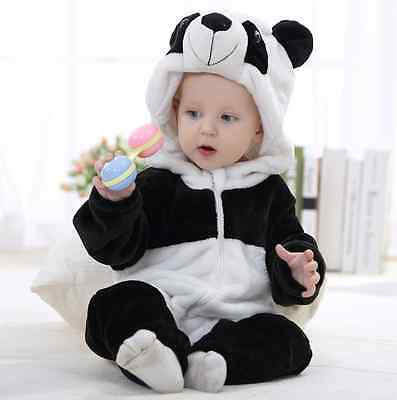 Super Cute Baby Infant Kids Toddler animal  panda Winter Romper Jumpsuit