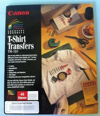 Cannon Tshirt Transfers TR101 Print Your Own New