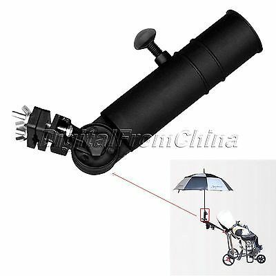 Black Universal Golf Umbrella Holder Stand For Buggy Cart Baby Pram Accessories