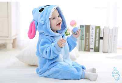 Baby Infant Kids Toddler animal bodysuit Stitch Winter Romper Jumpsuit