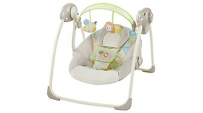 Ingenuity Sunny Snuggles Portable Swing with Sweet Melodies & Gentle Vibrations