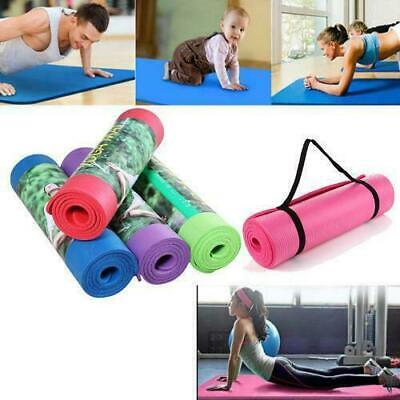 "Extra Thick Non-slip Yoga Mat Pad Exercise Fitness Pilates w/ Strap 72"" x 24"""