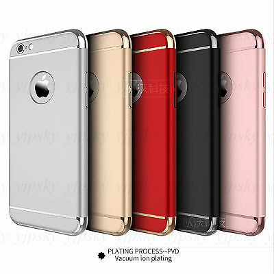 Luxury Electroplate Shockproof ARMOR Hard Case Cover for iPhone 7 6 & 6S Plus 5s