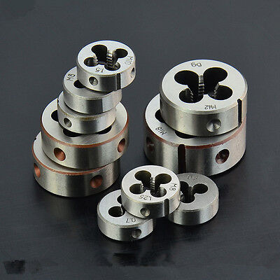 1Pc M1M3M4M5M6M8M10M12M14M16M18M20 Rethreading Round Die Threading Tool Taps