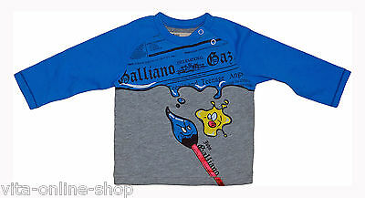 JOHN GALLIANO Kids / Kinder / Baby LA-Shirt 10, grau/blau, Gr. 68