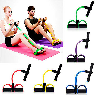 Fitness Elastic Sit Up Pull Rope Abdominal Exerciser Equipment Sport New Hot