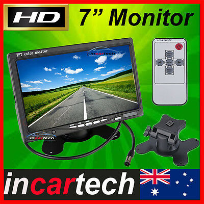 """7"""" inch TFT LCD Color Car Rear View Headrest Monitor For Car Reversing Camera OZ"""