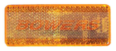 Side Amber Orange Stick On Adhesive Reflector Rectangular Truck Trailer Caravan
