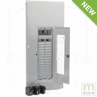 Square D 200 Amp Load Center Main Breaker Panel Electrical 60-Circuit 30-Space