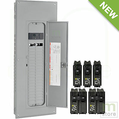 Square D 200 Amp Load Center Main Breaker Panel Electrical 80-Circuit 40-Space