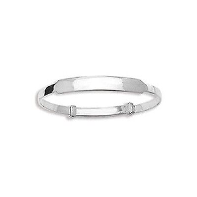 Baby ID Bangle **FREE ENGRAVING* 925 Sterling Silver Expanding ideal Christening