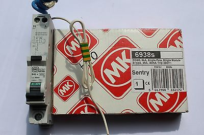 MK Sentry B45 RCBO 6938s 45A 6kA 240V 30mA 240V 1P Single Pole New/boxed