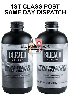 Bleach London Silver Shampoo AND conditioner 250ml -1ST CLASS-SAME DAY DESPATCH
