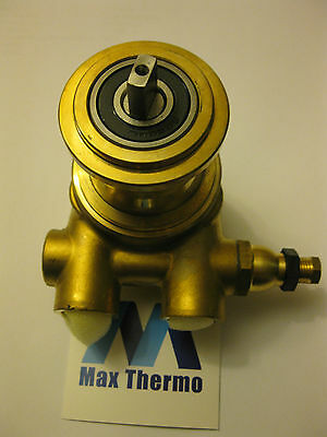 """pump head PA104 FLUID-O-TECH L 82mm 100l/h connection 3/8"""" GAS with bypass brass"""