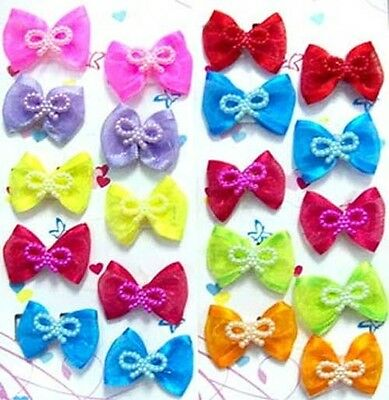 Baby Goods Hair Accessories - Embellished Hair Bows  10 Pair Lot  (HASB8#)