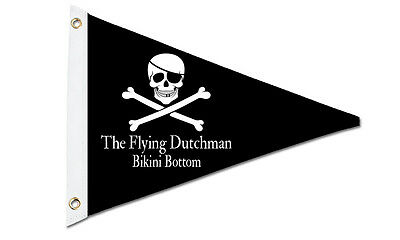 Personalized Pennant Boat Flag Skull & Bones with Patch Design