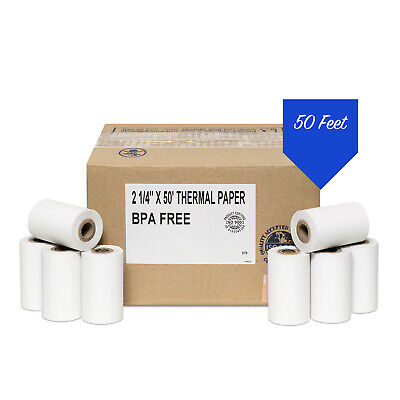 """2 1/4"""" x 50'  Thermal Paper (100 Rolls) -  First Data FD400 Credit Card Terminal"""