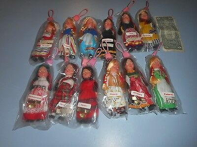 "Lot of 12 Vintage International 5.5"" Dolls Hong Kong."