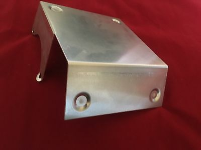 Satin Aluminum Starter Heat Shield - Most GM Starters SBC BBC Chevy