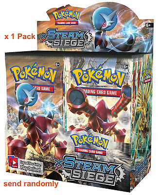 Authentic Pokemon TCG STEAM SIEGE Factory Sealed Brand New Booster Pack x 1