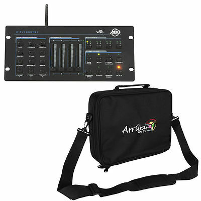 American DJ Wifly RGBW8C Stage Lighting Controller with Arriba AL56 Carrying Bag
